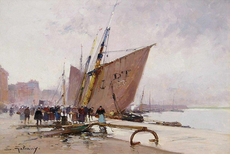 Dieppe by Eugène Galien-Laloue