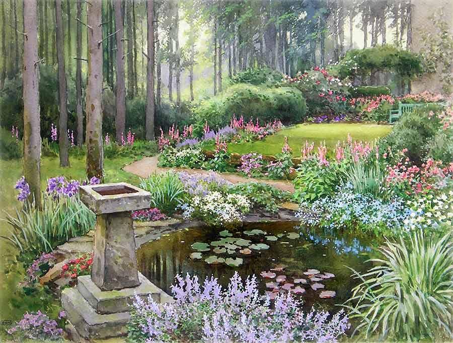 A Larchwood Garden by Ernest W. Haslehust