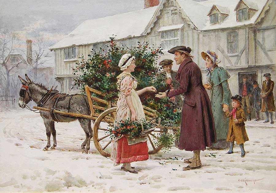 The Holly Seller by George Goodwin Kilburne