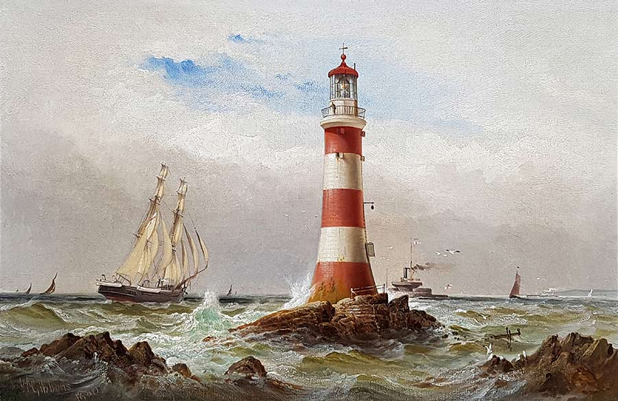 Sail and Steam off The Eddystone by William Gibbons
