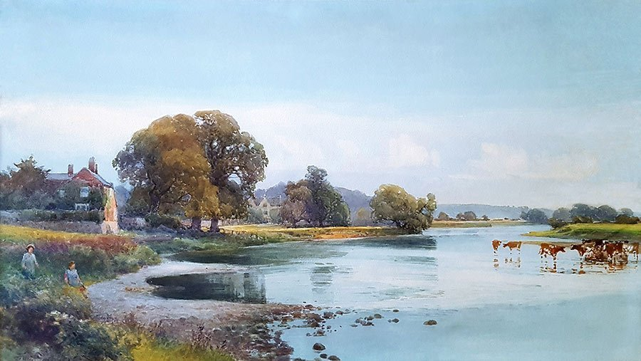 Summer by the River by Frank Gresley