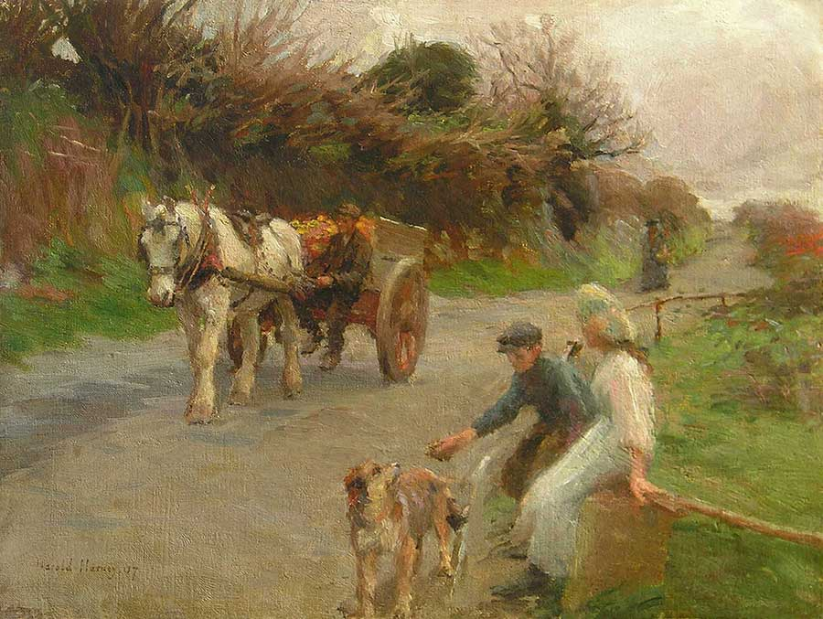 Home from the Fields by Harold Harvey