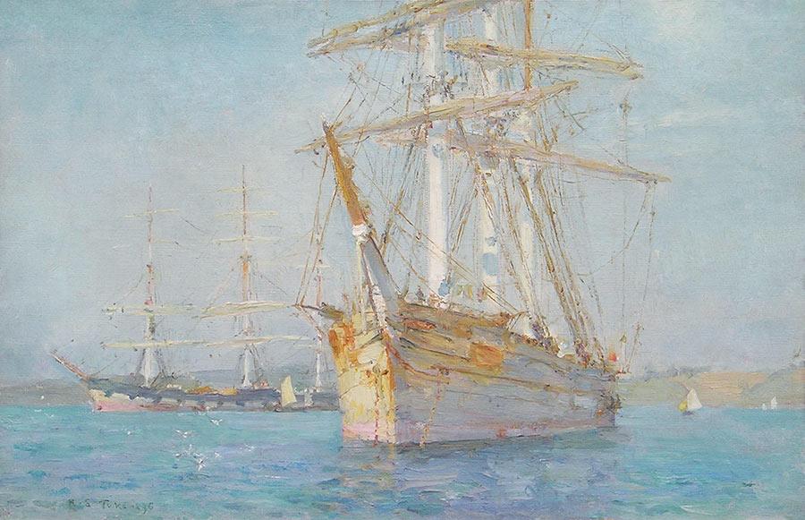 White Barque Falmouth by Henry Scott Tuke