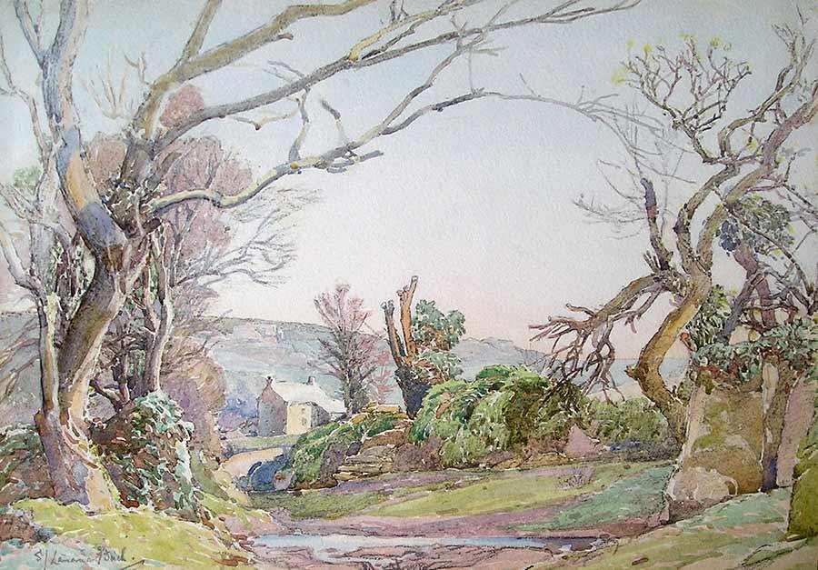 Spring Morning in Rocky Lane, Lamorna by Samuel John Lamorna Birch