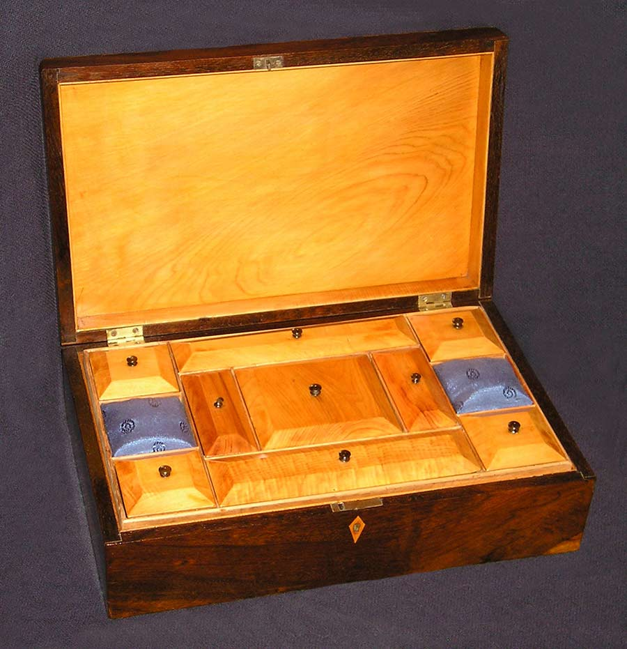 Inlaid Sewing Box, open