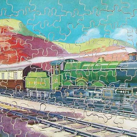Complete Great Western Railway vintage wooden  jigsaw puzzle