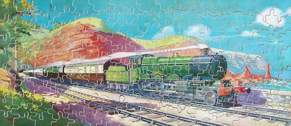 Complete Great Western Railway vintage wooden jigsaw puzzle by James H. Thorpe