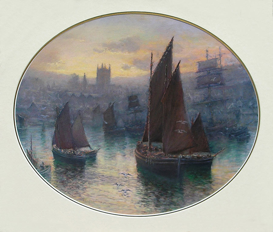 The Fishing Fleet, St. Ives by William Cox