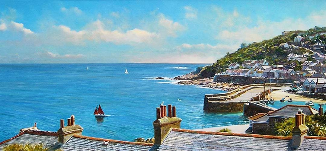 Over the Rooftops, Mousehole by Duncan Palmar