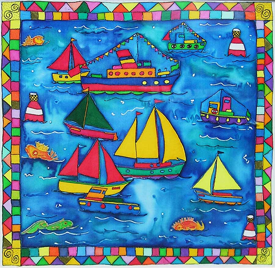 Busy Boats by Bea Powell