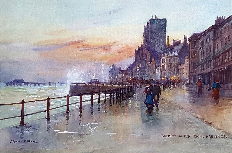 Sunset after Rain, Hastings by Frank Rousse