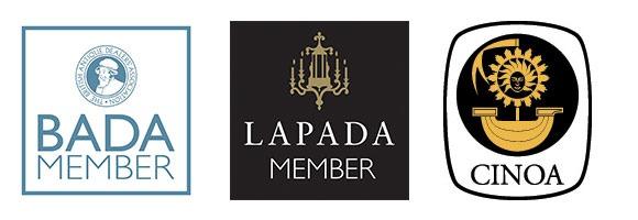BADA, LAPADA, and CINOA logos