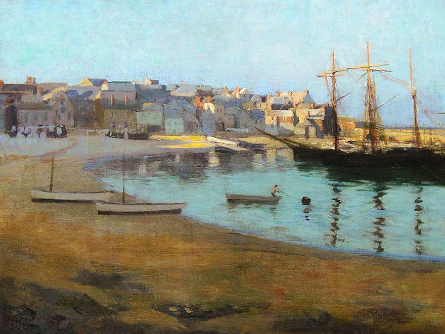 A Summer Evening, St. Ives Harbour, by Gertrude Charlotte Annie Rowe Talmage