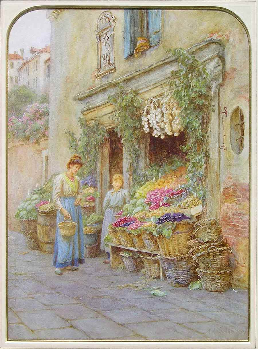 The Young Fruit Seller, Venice by Helen Mary Elizabeth Allingham