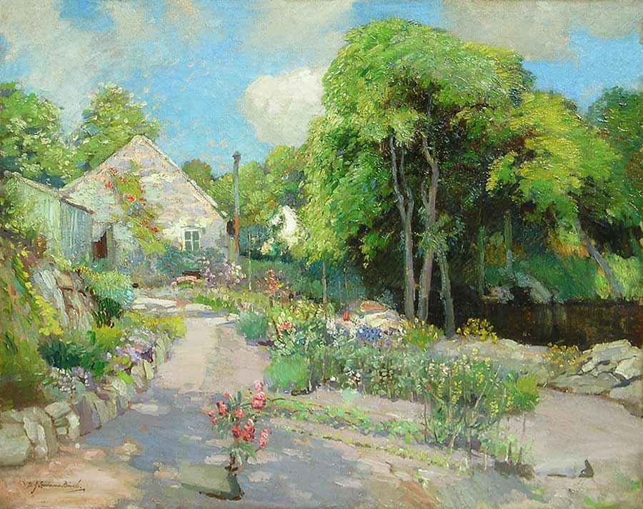 My Studio, Lamorna by Samuel John Lamorna Birch