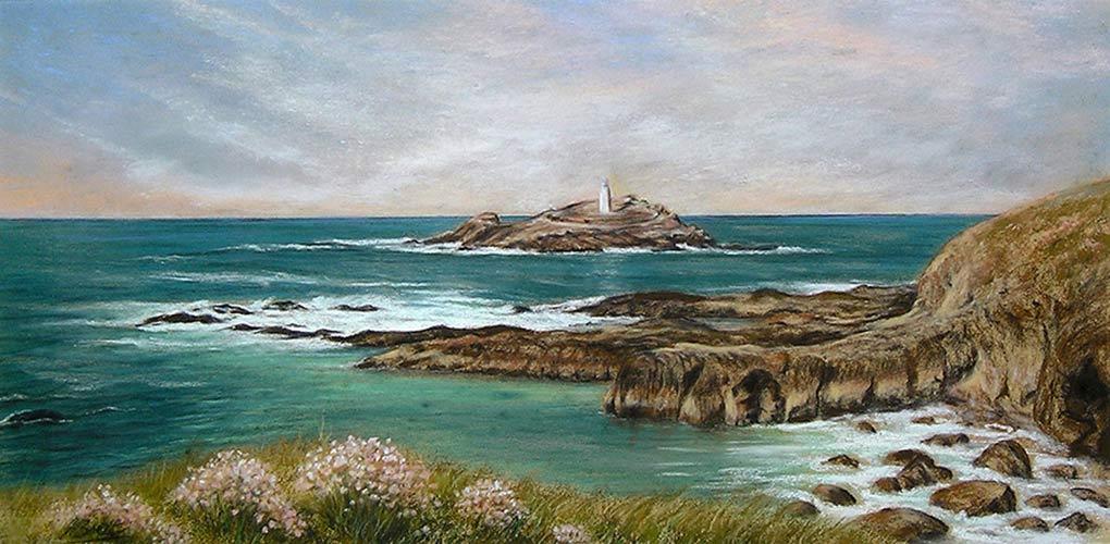 Godrevy Lighthouse by Julie Brett