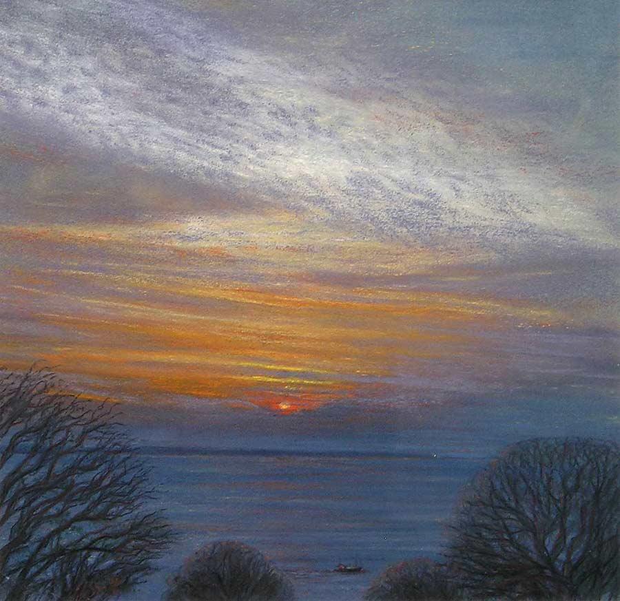 Sunrise over The Lizard by Julie Brett