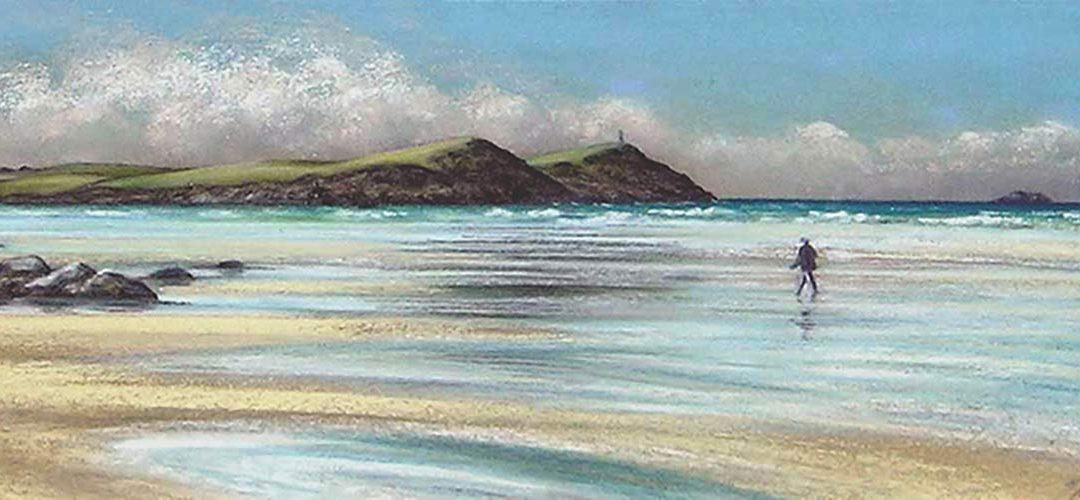 Low Tide, Polzeath by Julie Brett