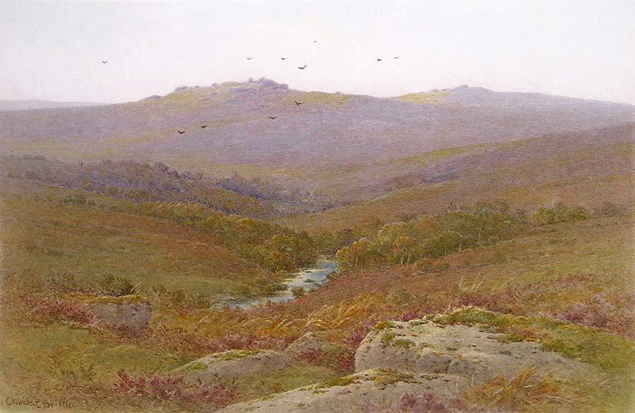 The West Dart near Dartmeet by Charles Edward Brittan