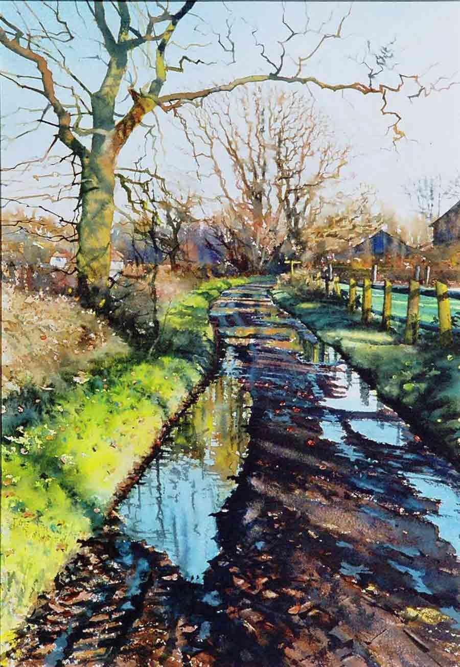 Farm Lane by Joe Francis Dowden