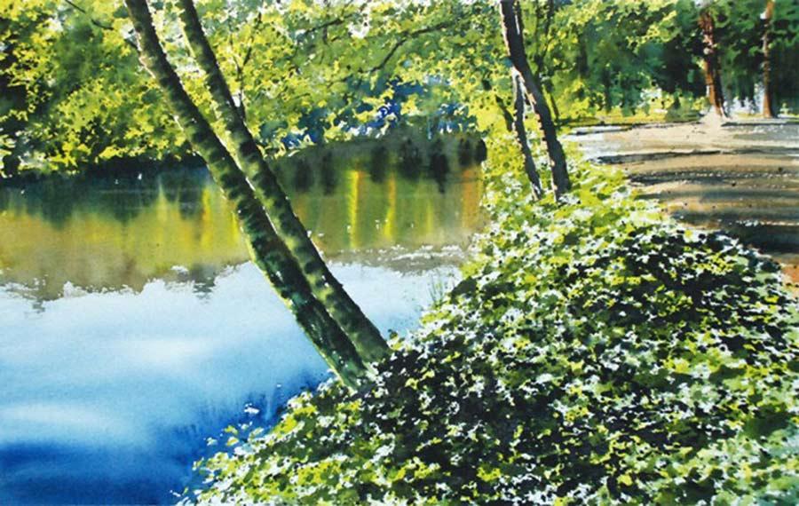 Riverside Walk by Joe Francis Dowden