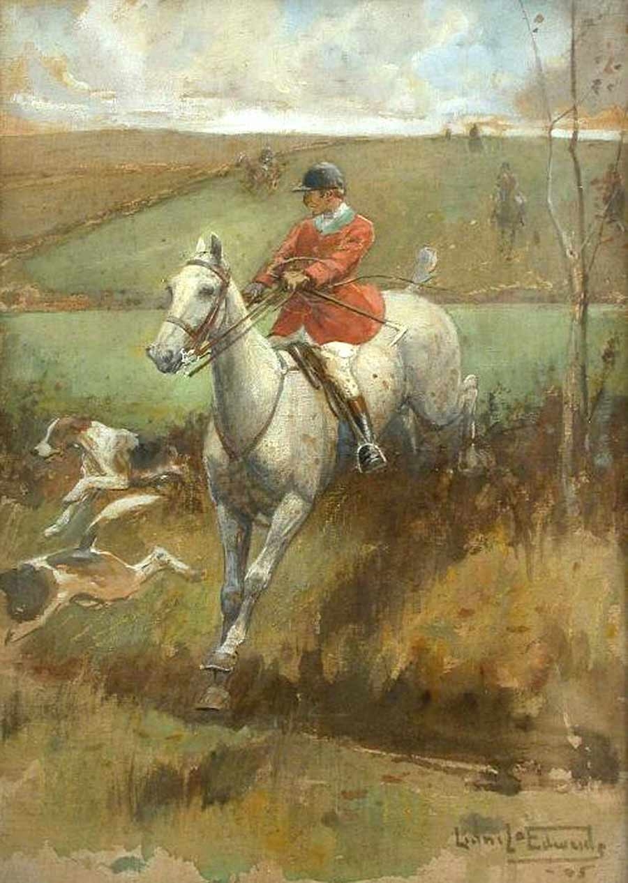 Clearing the Hedge by Lionel Dalhousie Robertson Edwards