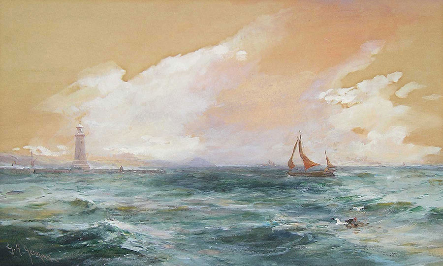 Off The Breakwater, Plymouth by George Henry Jenkins