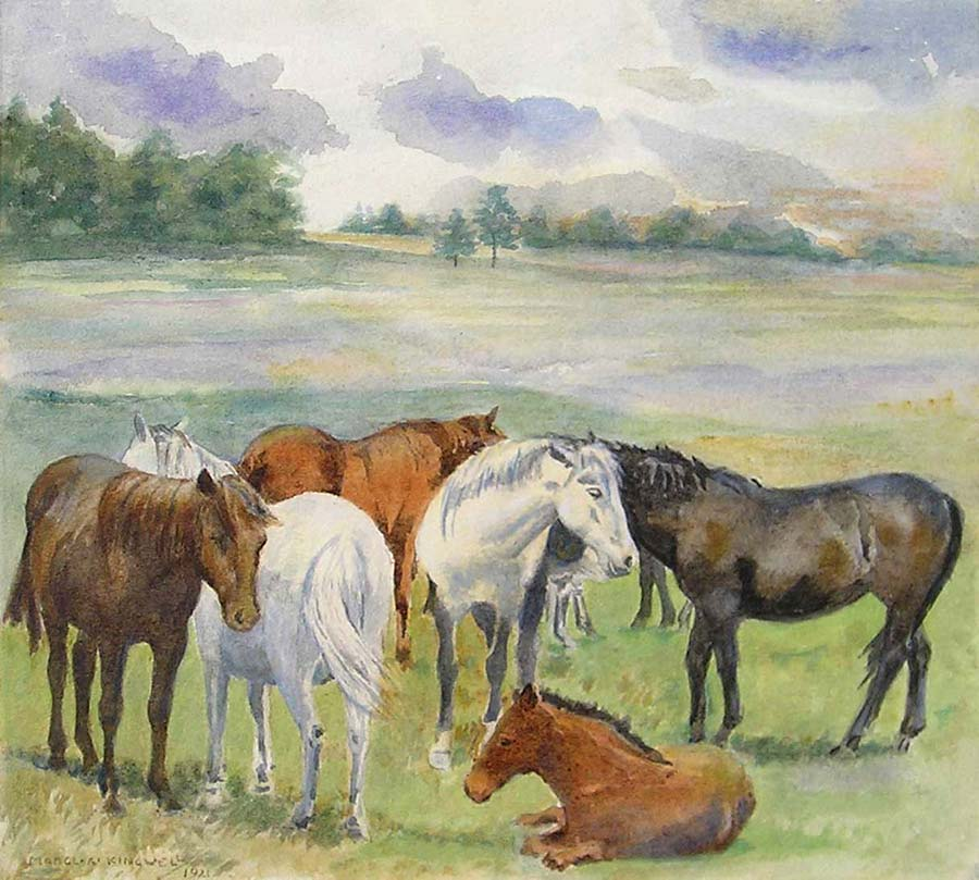 Pony Herd by Mabel Amber Kingwell