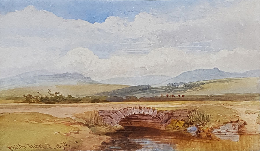 Cover Leat, Roborough Downs, 1878 by Philip Mitchell