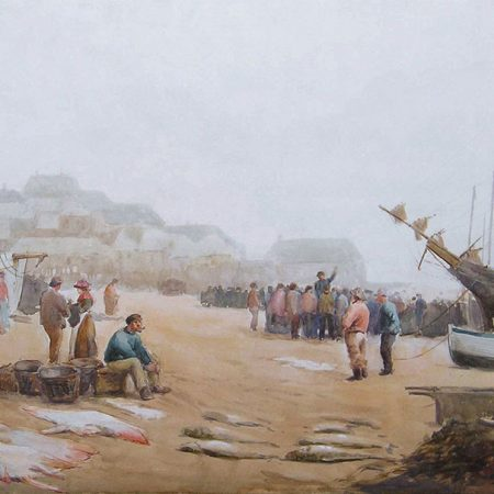 Fish Sale on the Beach, St. Ives