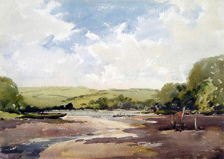 The River Dart near Dittisham by William Arthur Watkins