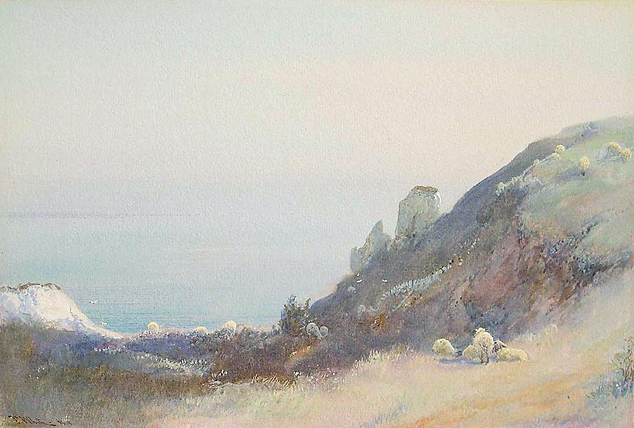 Evening by the Headland, Beer by John White