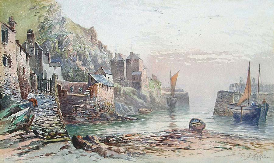 Polperro, 1882 by Harry Williams