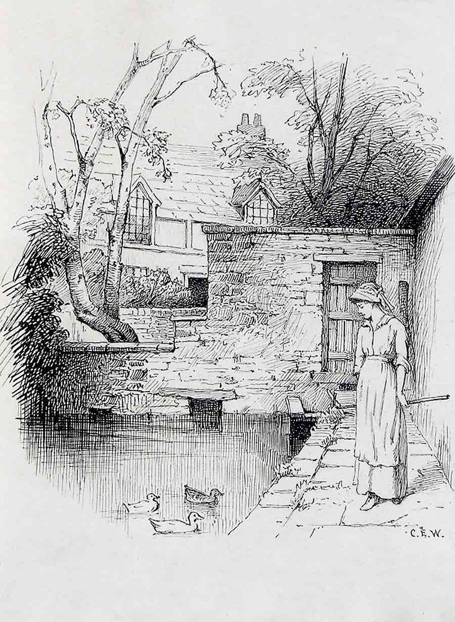 By the Mill Stream by Charles Edward Wilson