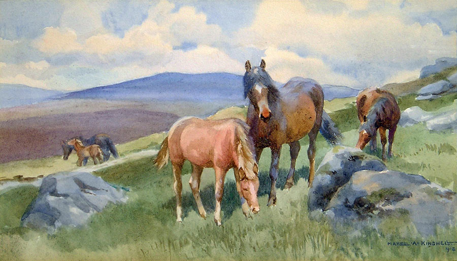 Mares and Foals by Mabel Amber Kingwell
