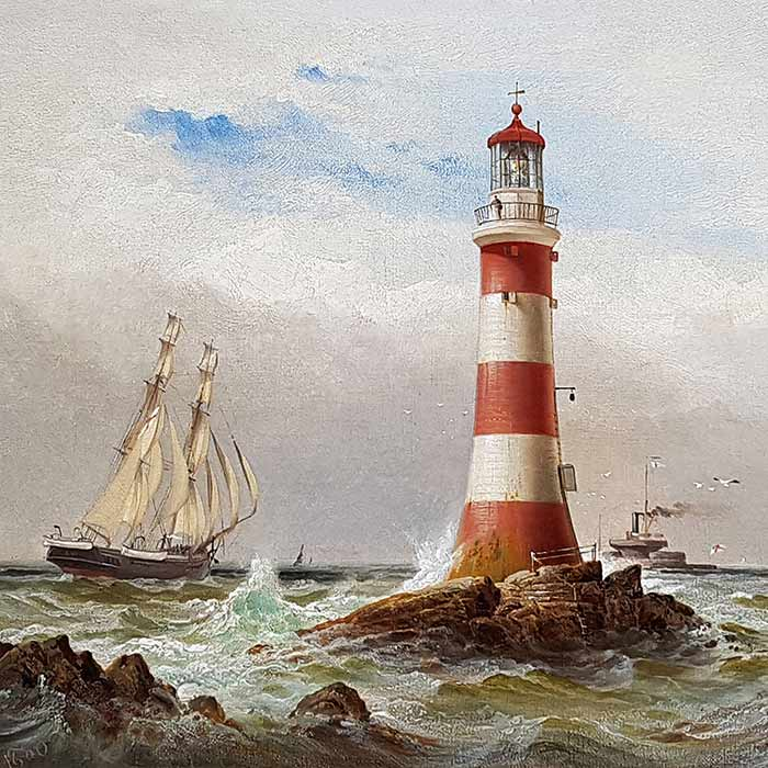 The Eddystone Lighthouse Plymouth by Gibbons